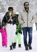 Sofia Richie and Scott Disick step out in the snow for some shopping in Aspen, Colorado
