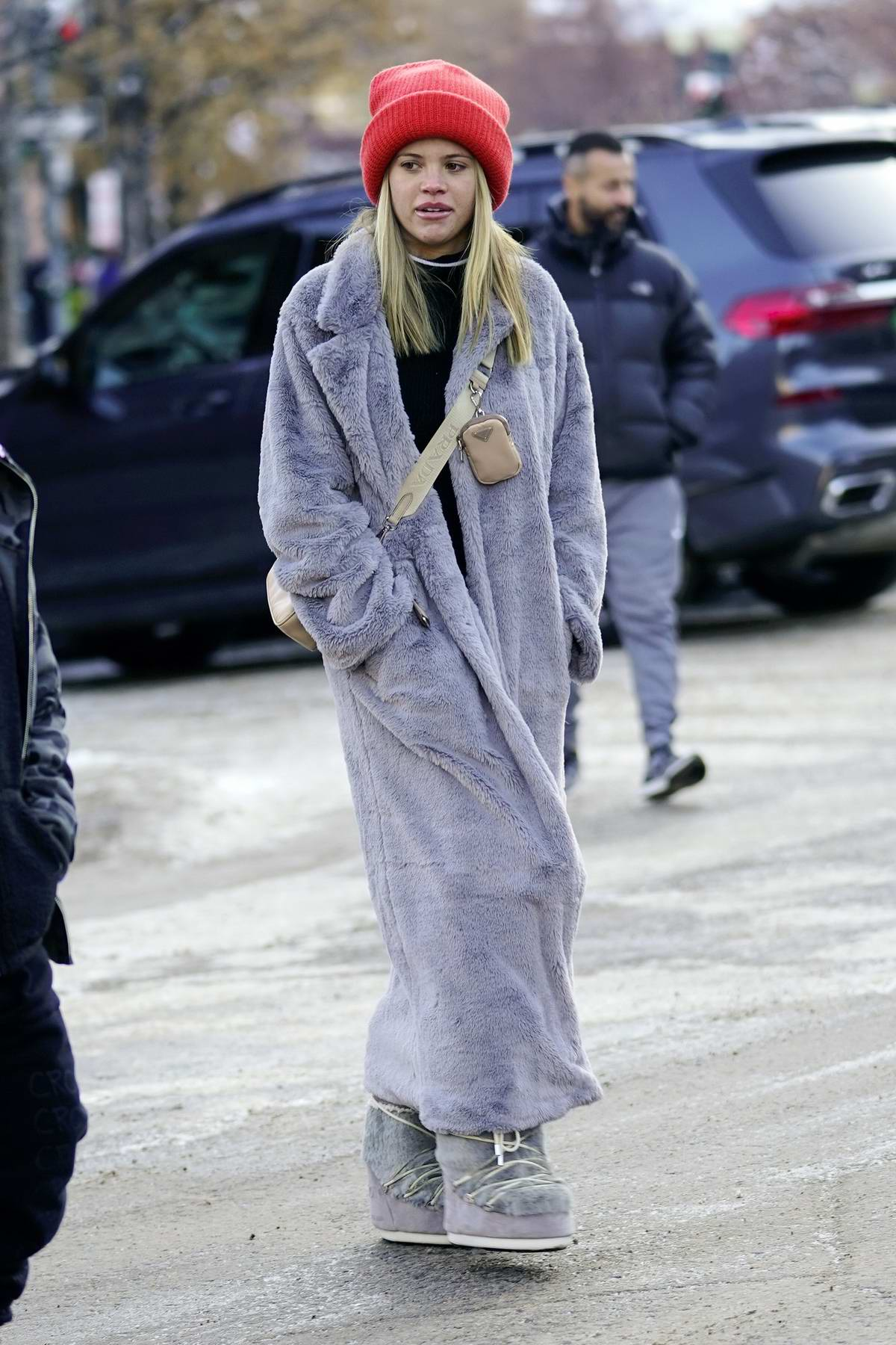 Sofia Richie bundles up as she steps out with Scott Disick and his kids in Aspen, Colorado