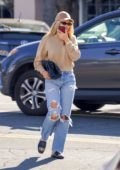 Sofia Richie looked busy on her phone while out shopping in Santa Barbara, California
