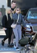 Sofia Richie looks comfy in a grey jacket and leggings as she stops by XIV Karats in Beverly Hills, California