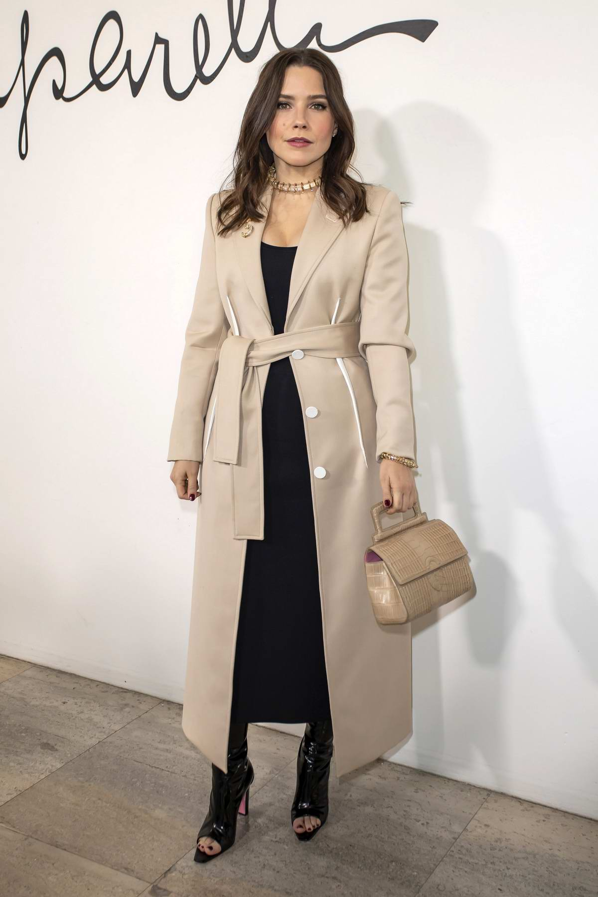 Sophia Bush attends the Schiaparelli Haute Couture Spring/Summer 2020 show in Paris, France
