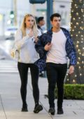 Sophie Turner and Joe Jonas seen leaving their hotel in Beverly Hills, California
