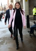 Stephanie McMahon is all smiles as she arrives at BBC studio in London, UK