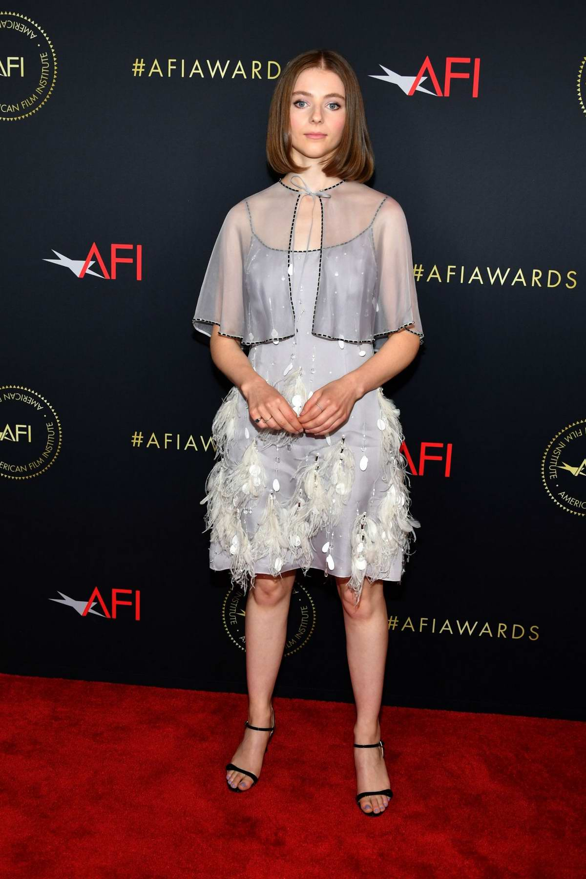 Thomasin McKenzie attends the 20th Annual AFI Awards at Four Seasons Hotel Los Angeles in Beverly Hills, California