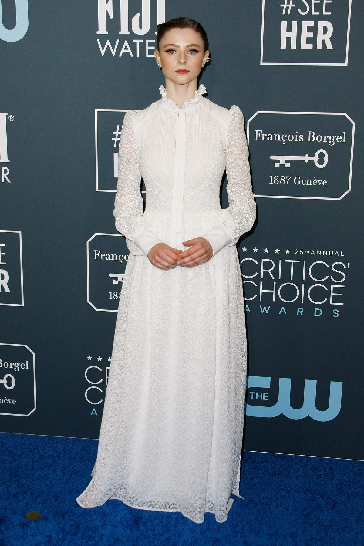 Thomasin McKenzie attends the 25th Annual Critics' Choice Awards at Barker Hangar in Santa Monica, California