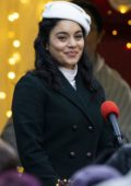 Vanessa Hudgens films scenes for her new Netflix movie 'The Princess Switched, Switched Again' in Edinburgh, Scotland