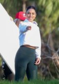 Vanessa Hudgens seen filming a sportswear ad for her Avia activewear collection in Los Angeles