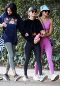 Victoria Justice and Madison Reed step out for a hike with friends at Fryman Canyon in Studio City, California