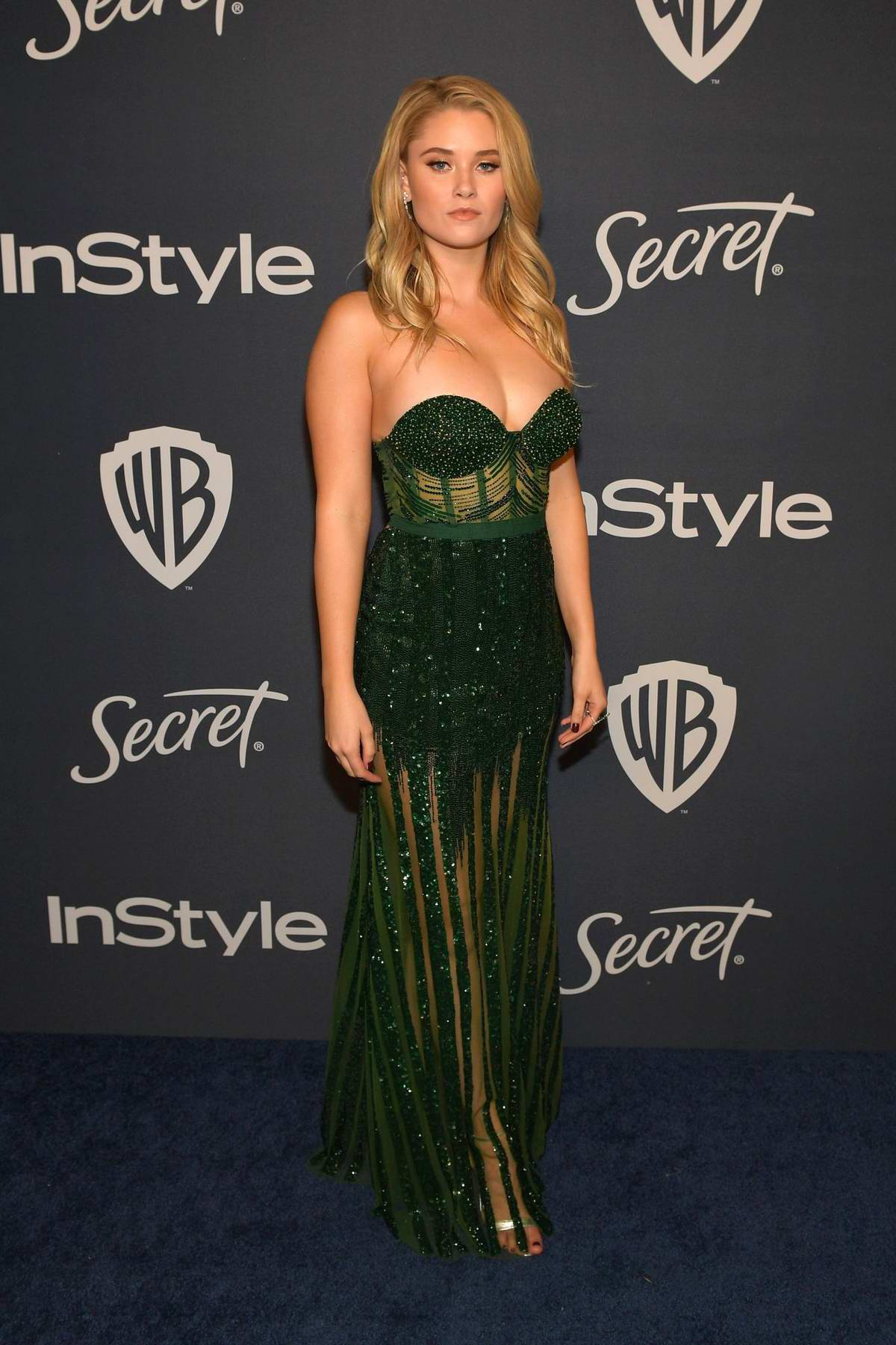 Virginia Gardner attends the 21st annual Warner Bros and InStyle Golden Globe After-Party in Beverly Hills, California