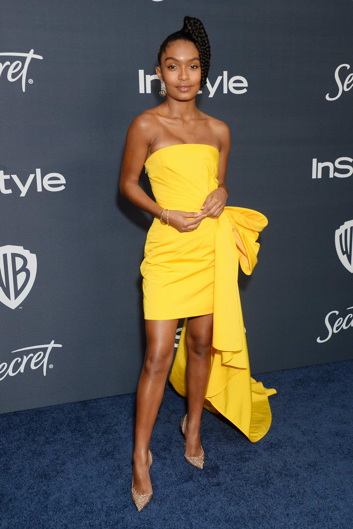 Yara Shahidi attends the 21st annual Warner Bros and InStyle Golden Globe After-Party in Beverly Hills, California