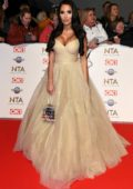 Yazmin Oukhellou attends the National Television Awards 2020 at The O2 Arena in London, UK