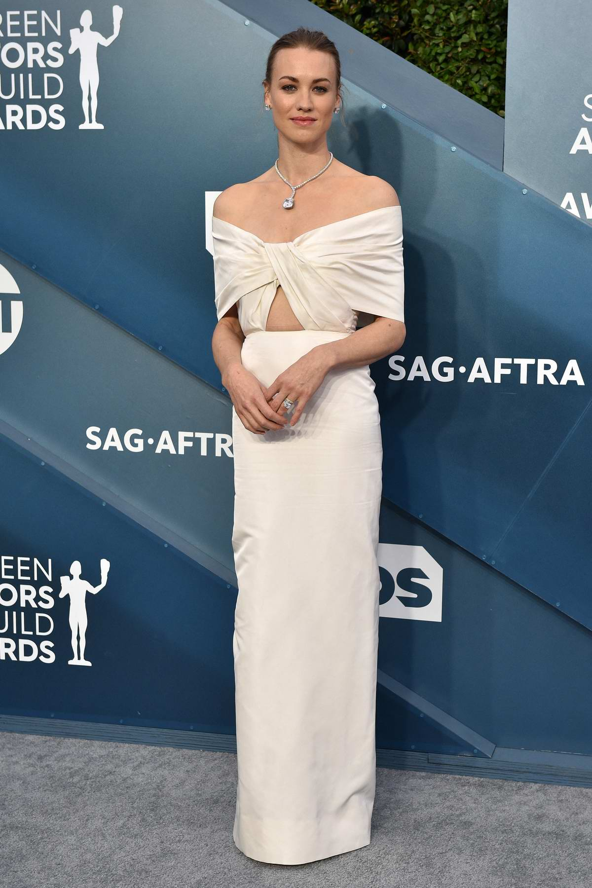 Yvonne Strahovski attends the 26th Annual Screen Actors Guild Awards at the Shrine Auditorium in Los Angeles