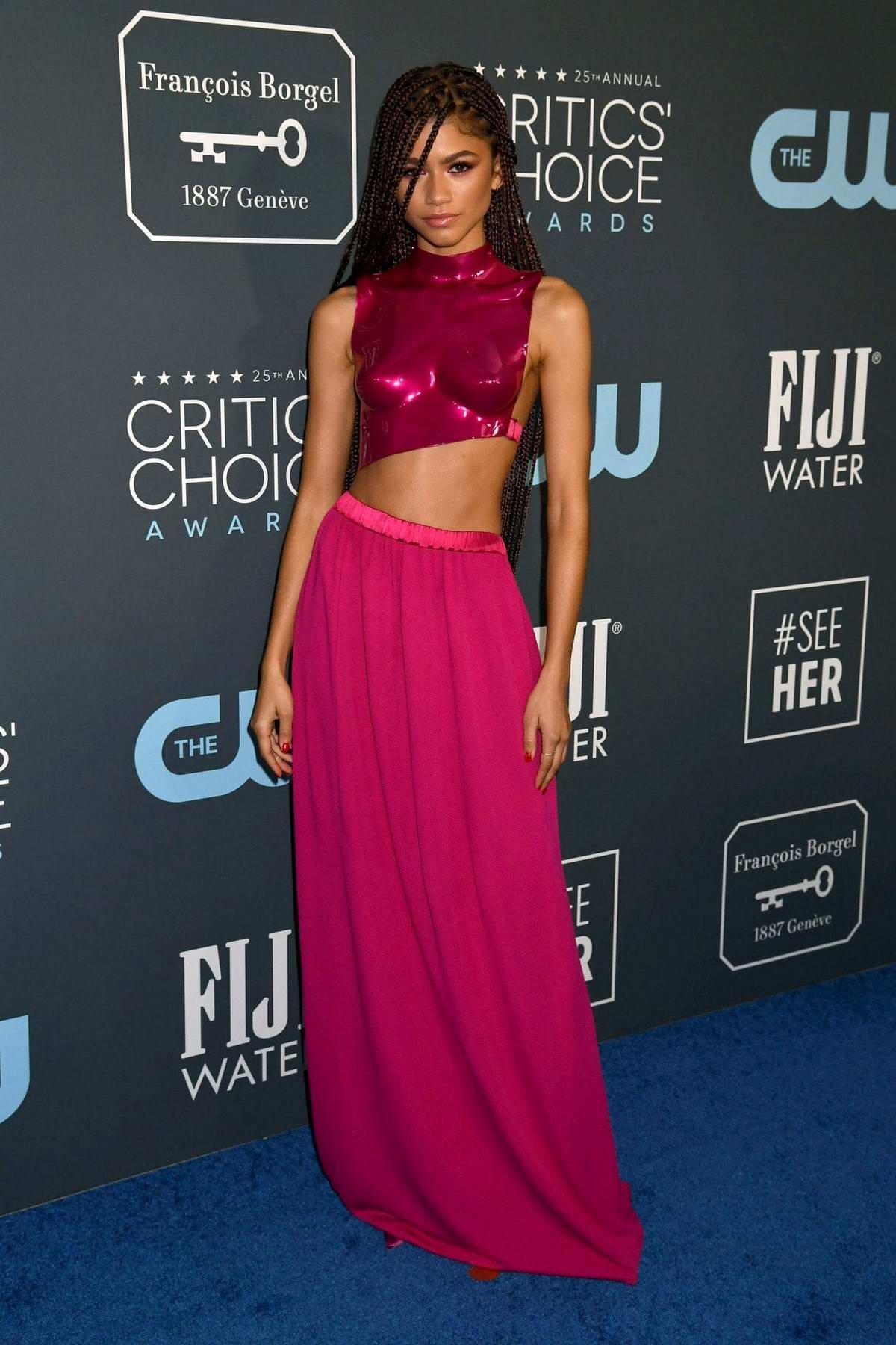 Zendaya attends the 25th Annual Critics' Choice Awards at Barker Hangar in Santa Monica, California