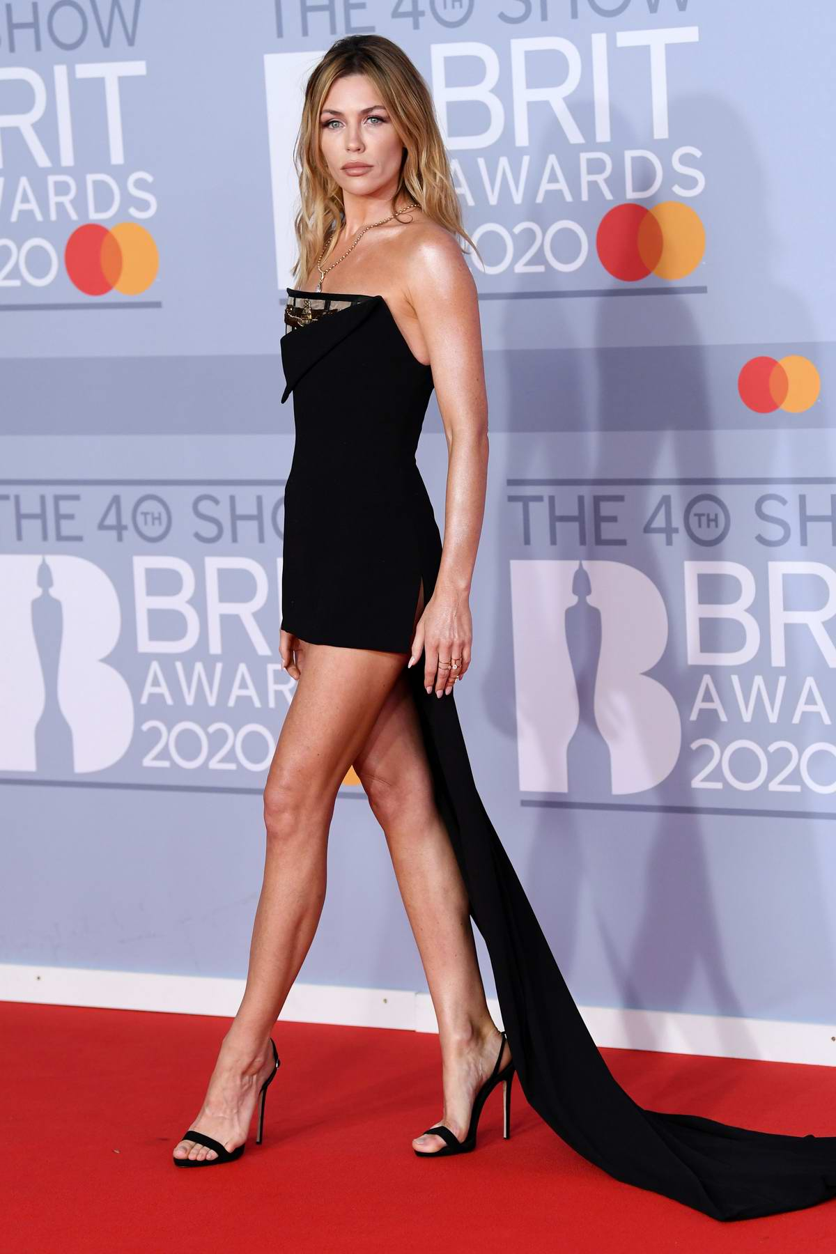 Abbey Clancy attends the BRIT Awards 2020 at The O2 Arena in London, UK