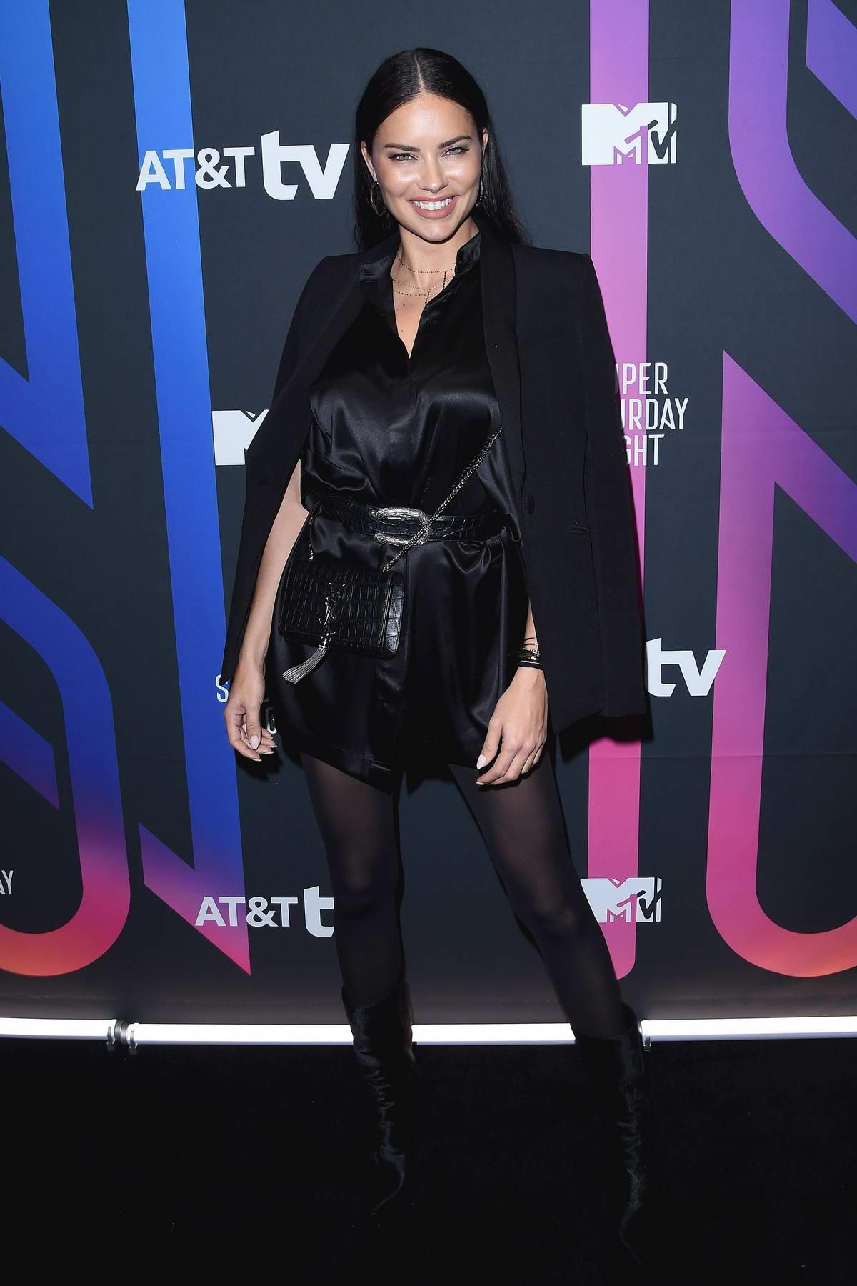 Adriana Lima attends the AT&T TV Super Saturday Night in Miami, Florida
