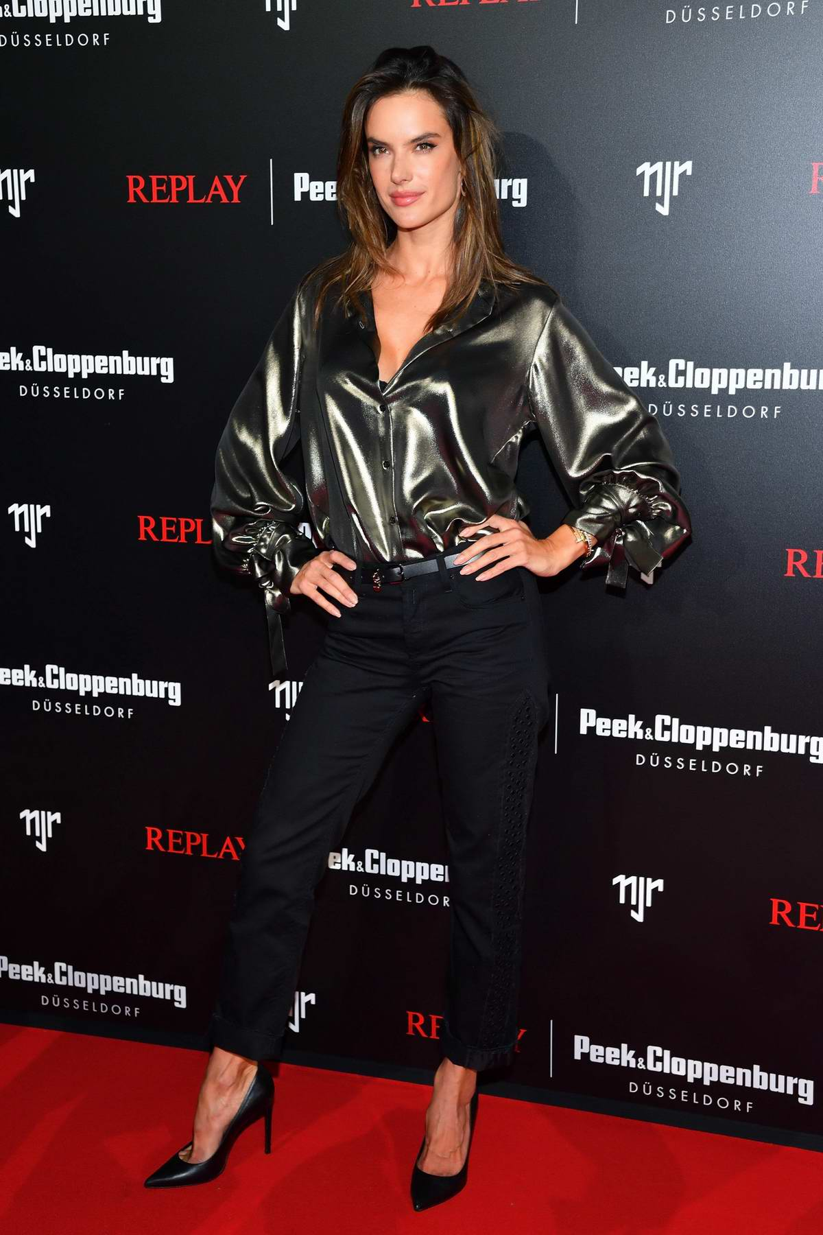 Alessandra Ambrosio attends REPLAY Peek & Cloppenburg in Dusseldorf, Germany