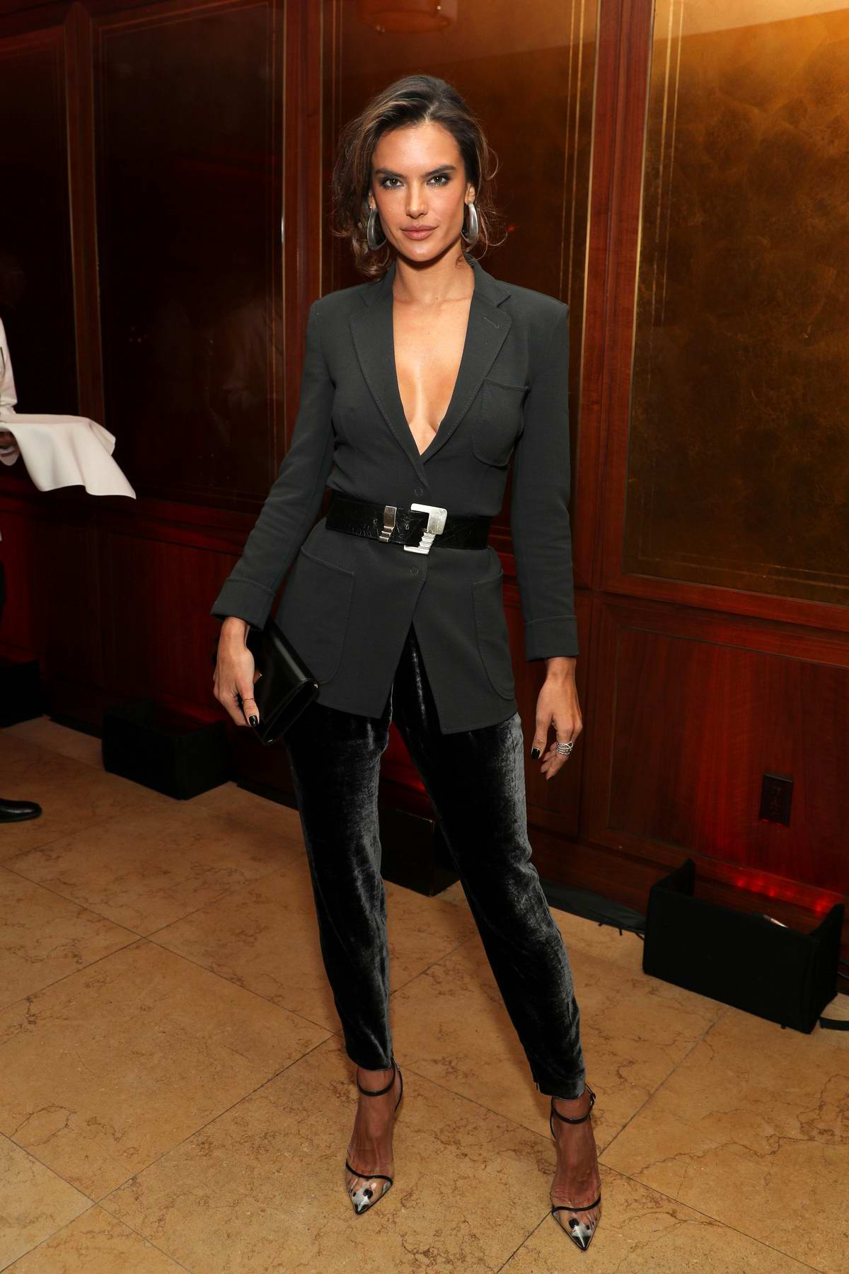 Alessandra Ambrosio attends the Variety x Armani Makeup Artistry Dinner at Sunset Tower in Los Angeles