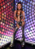 Alessandra Ambrosio celebrates the second day of the Rio carnival with friends and fans in Rio de Janeiro, Brazil