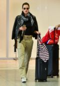 Alessandra Ambrosio keeps it casual chic as she touches down at the GRU airport in Sao Paulo, Brazil