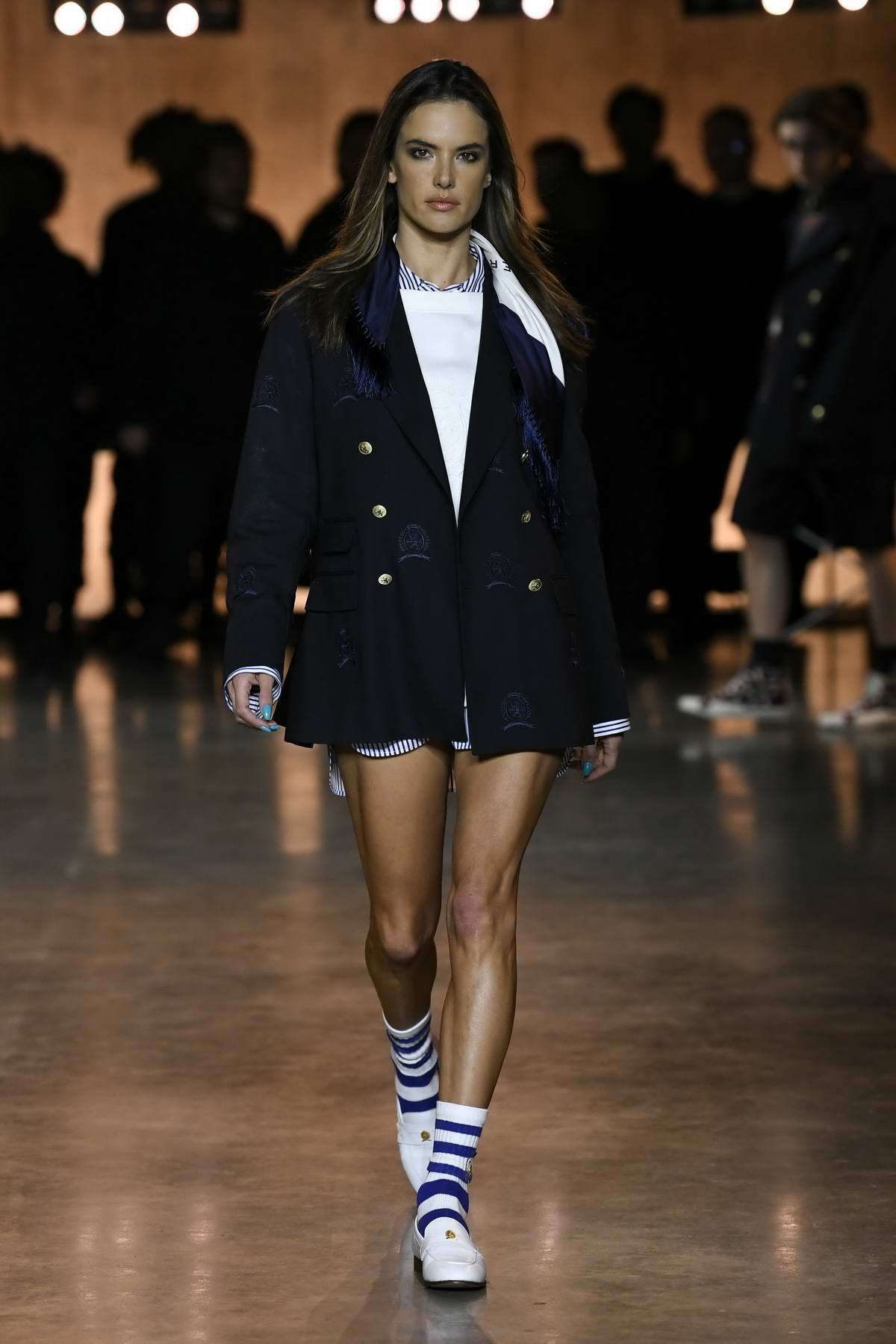 Alessandra Ambrosio walks the runway at Tommy Hilfiger AW20 show during London Fashion Week in London, UK