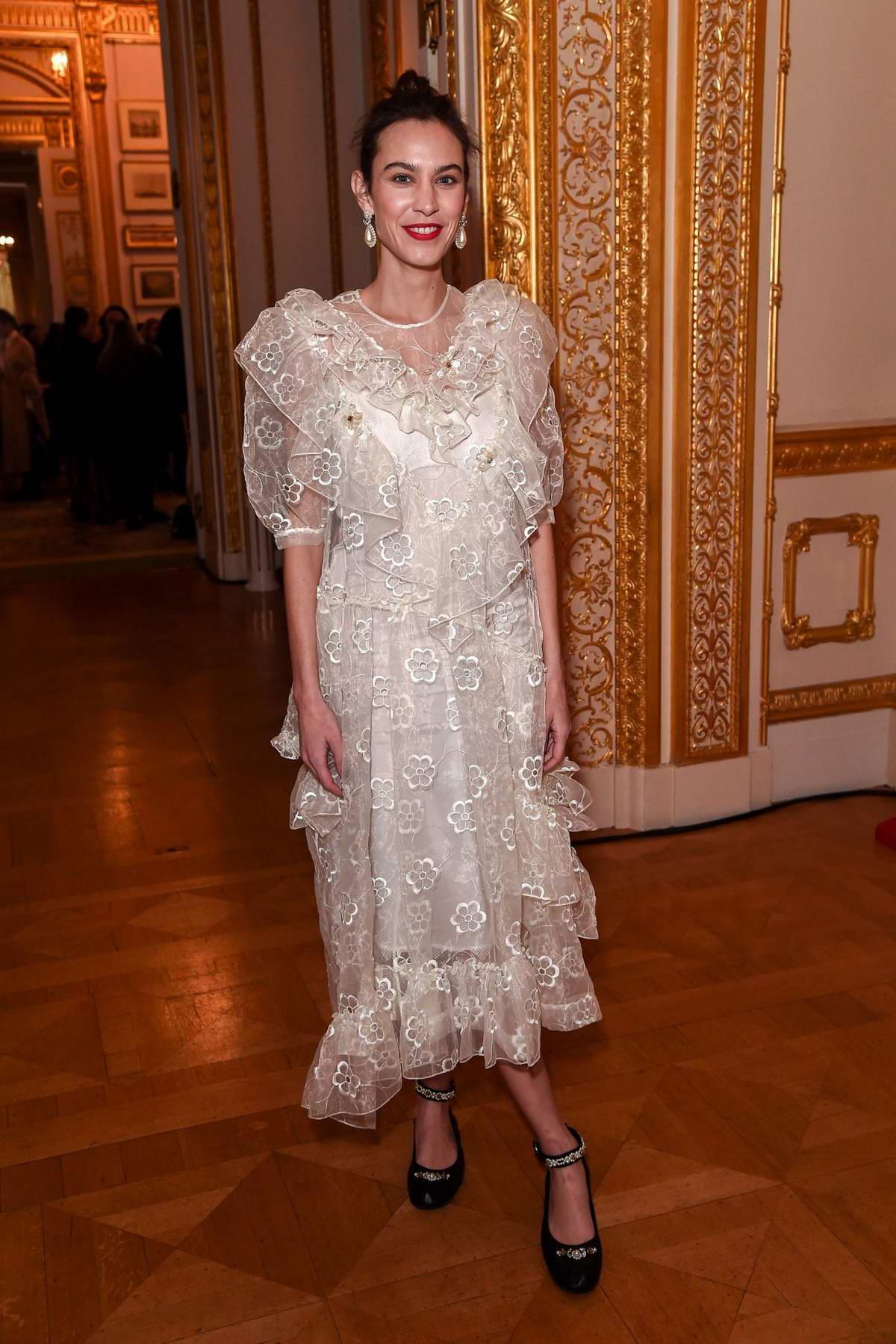 Alexa Chung attends the Simone Rocha fashion show during London Fashion Week at Lancaster Houseon in London, UK