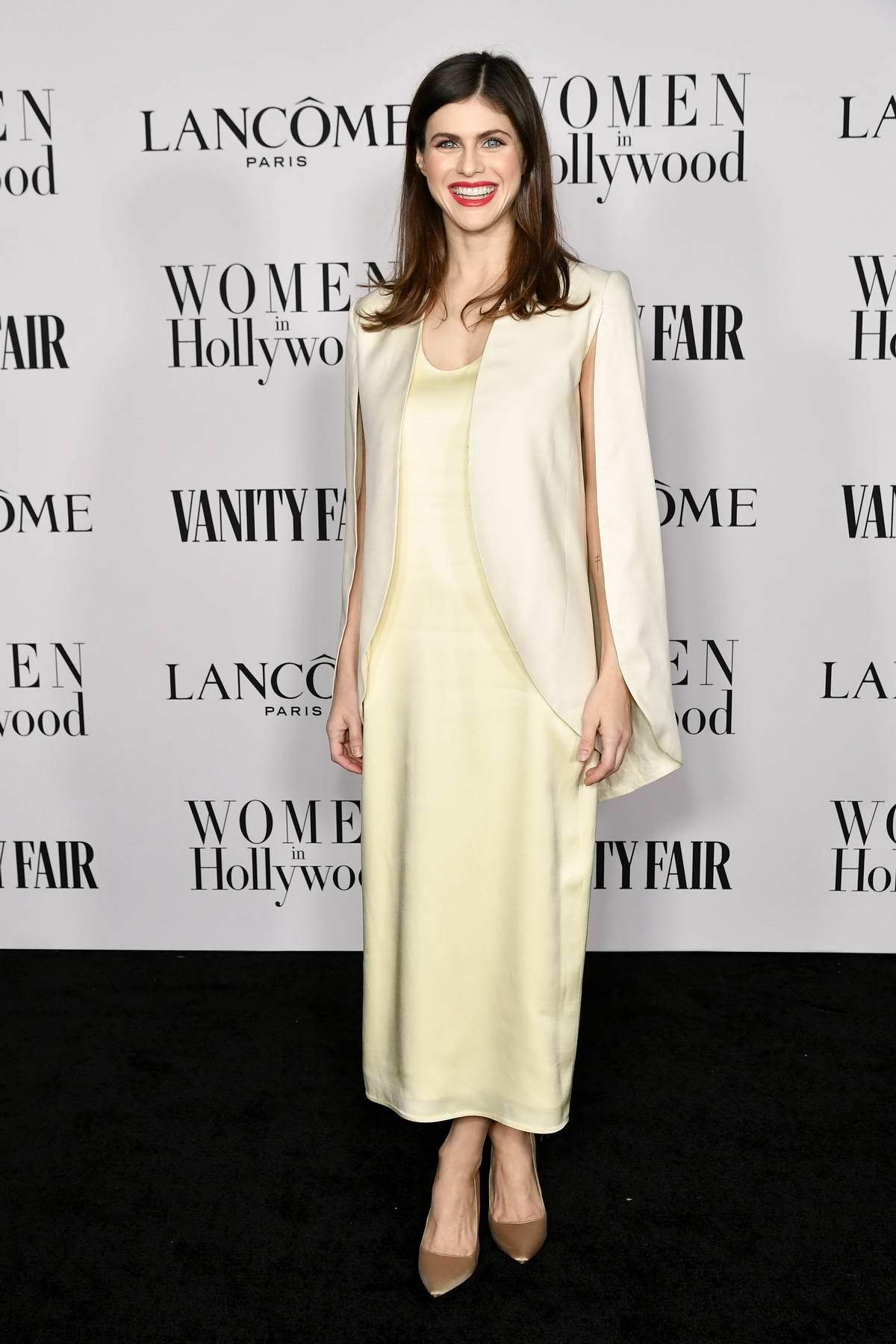 Alexandra Daddario attends the Vanity Fair and Lancome Women in Hollywood Celebration in West Hollywood, California