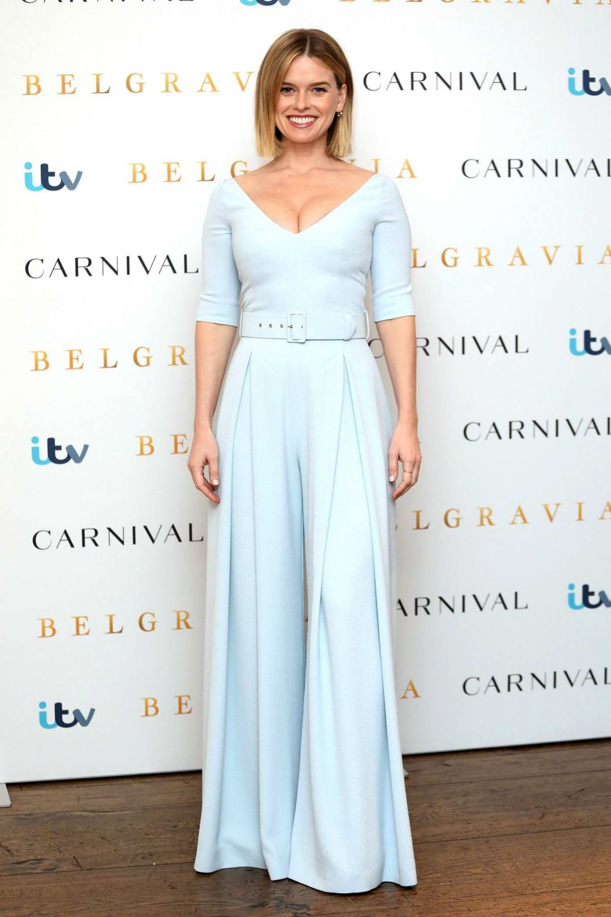 Alice Eve attends 'Belgravia' Photocall in London, UK
