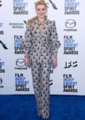 Amber Heard attends the 2020 Film Independent Spirit Awards at The Barker Hangar in Santa Monica, California