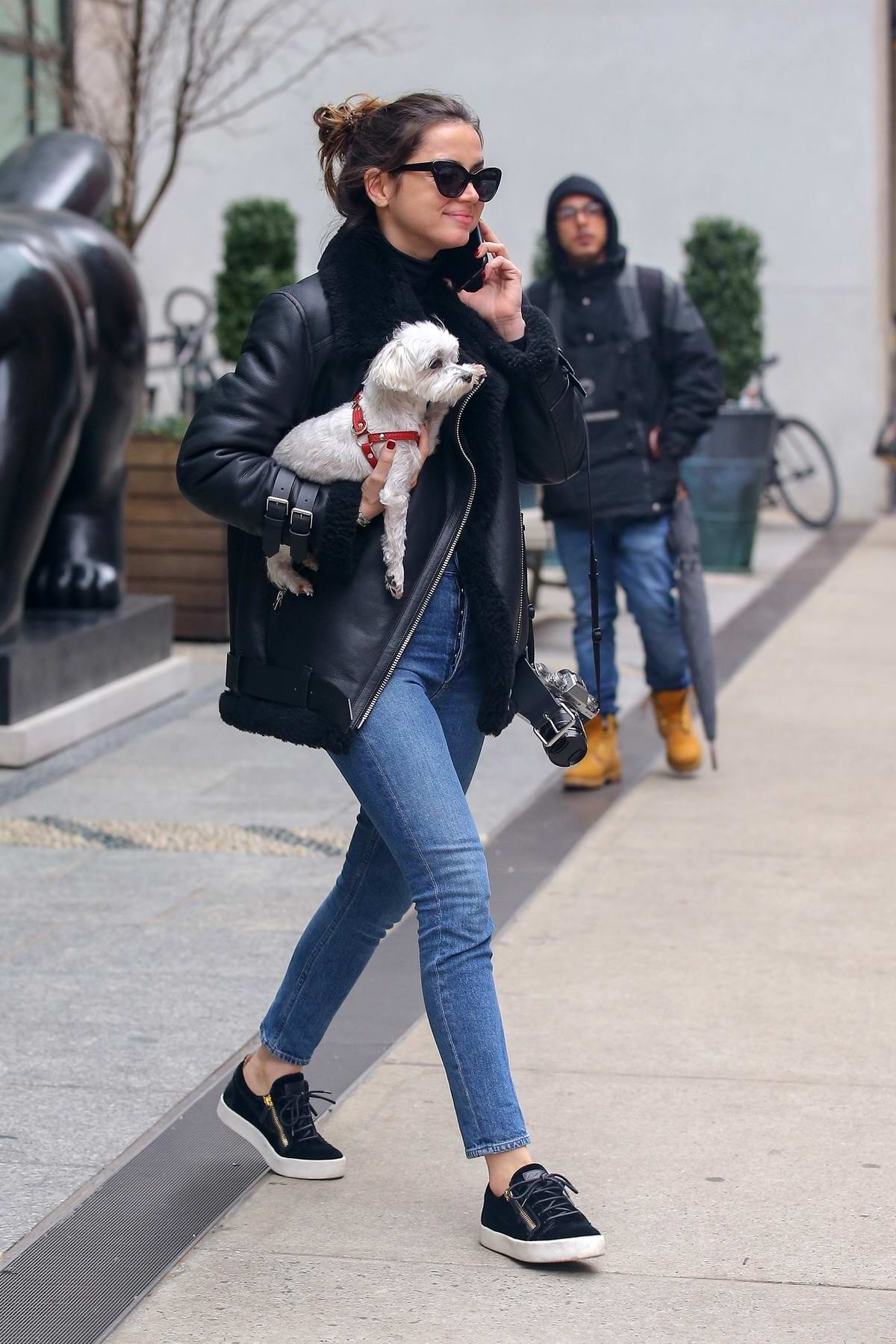 Ana de Armas looks lovely as she steps out for a stroll with a friend in New York City