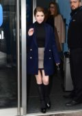 Anna Kendrick spotted while visiting BBC Radio 1 and Global Radio in London, UK