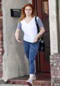 Ariel Winter drops off some packages at the post office while running errands in Los Angeles