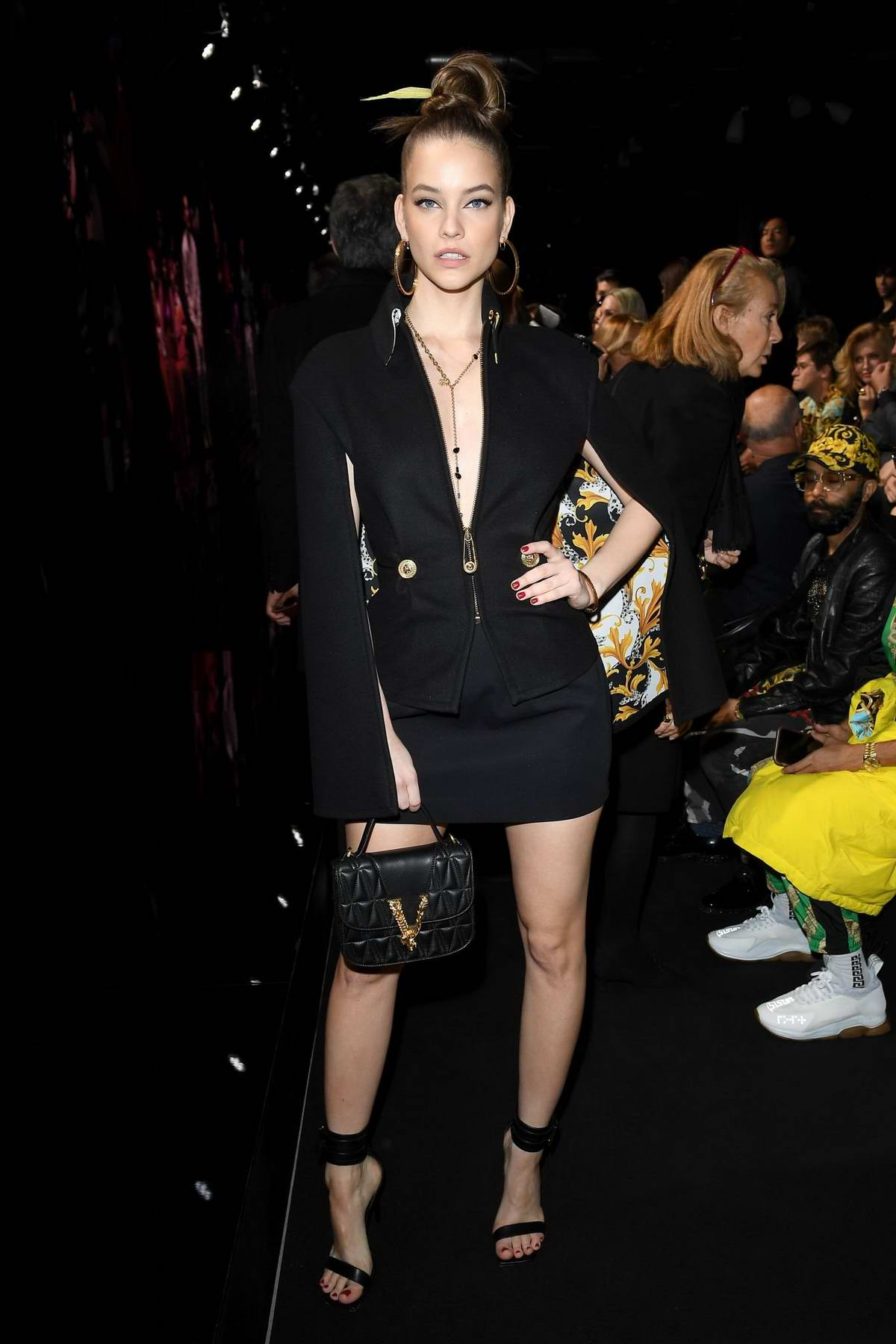 Barbara Palvin attends the Versace fashion show, F/W 2020 during Milan Fashion Week in Milan, Italy