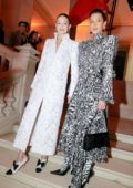 Bella Hadid and Gigi Hadid attend the Harper's Bazaar gala during Paris Fashion Week 2020 in Paris, France
