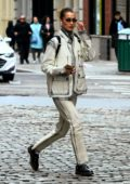 Bella Hadid doubles down on acid wash denim while out in New York City