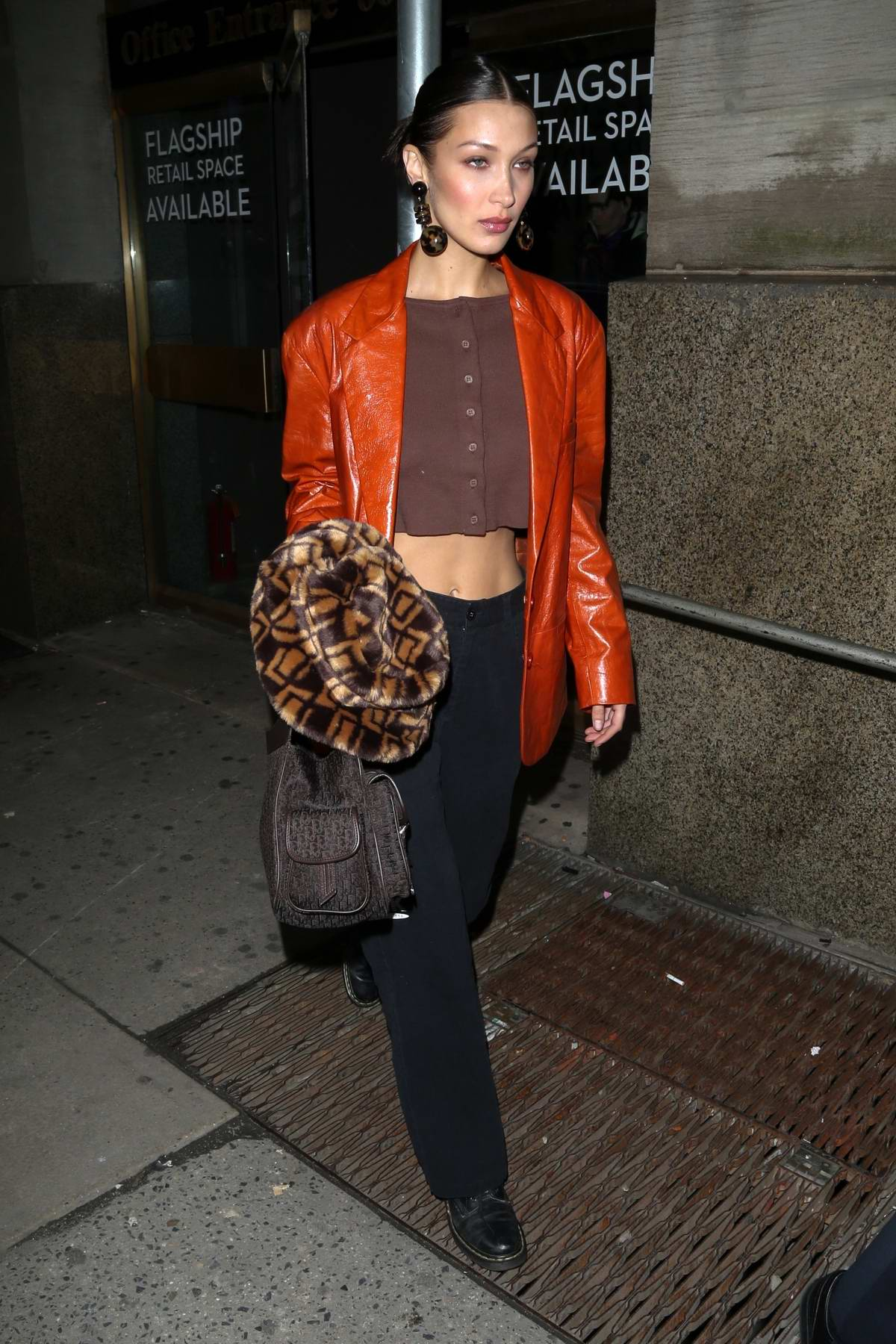 Bella Hadid looks stunning as she leaves Michael Kors show during NYFW 2020 in New York City