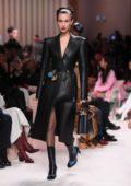 Bella Hadid walks the runway at Fendi fashion show, F/W 2020 during Milan Fashion Week in Milan, Italy