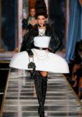 Bella Hadid walks the runway at the Moschino fashion show, F/W 2020 during Milan Fashion Week in Milan, Italy