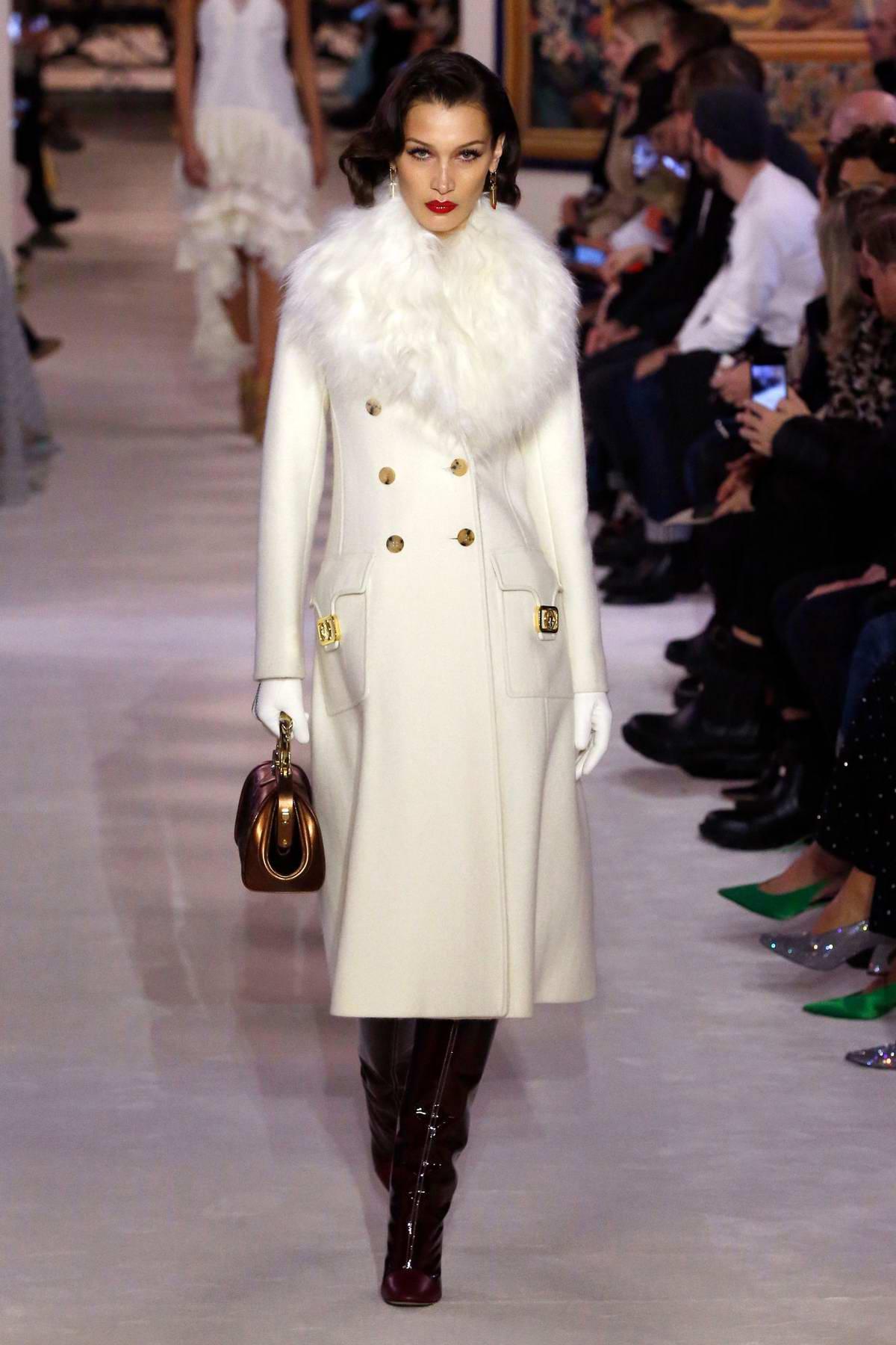 Bella Hadid walks the runway for Lanvin F/W 2020 fashion show during Paris Fashion Week in Paris, France