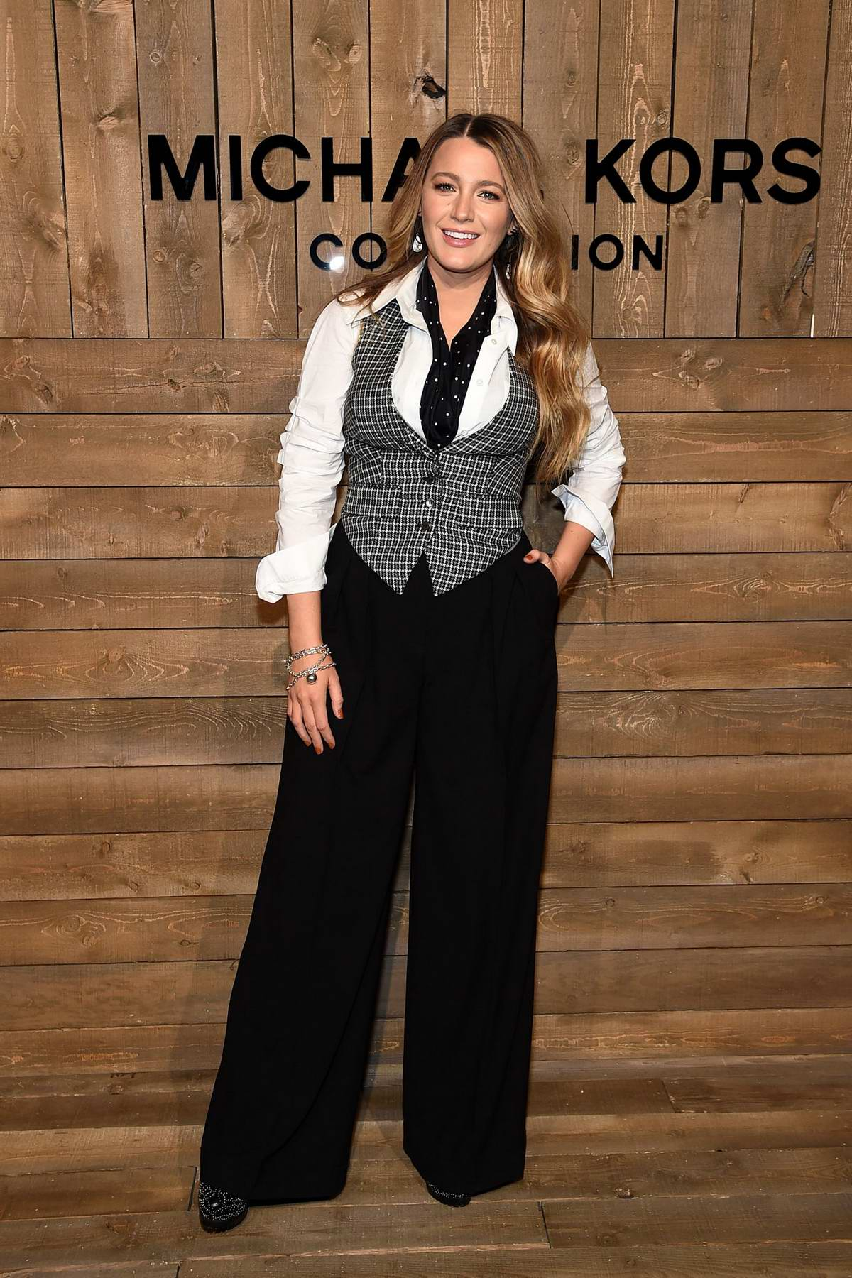 Blake Lively attends the Michael Kors show during NYFW 2020 in New York City