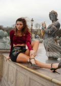 Blanca Blanco enjoys some sight-seeing and souvenir shopping in Paris, France