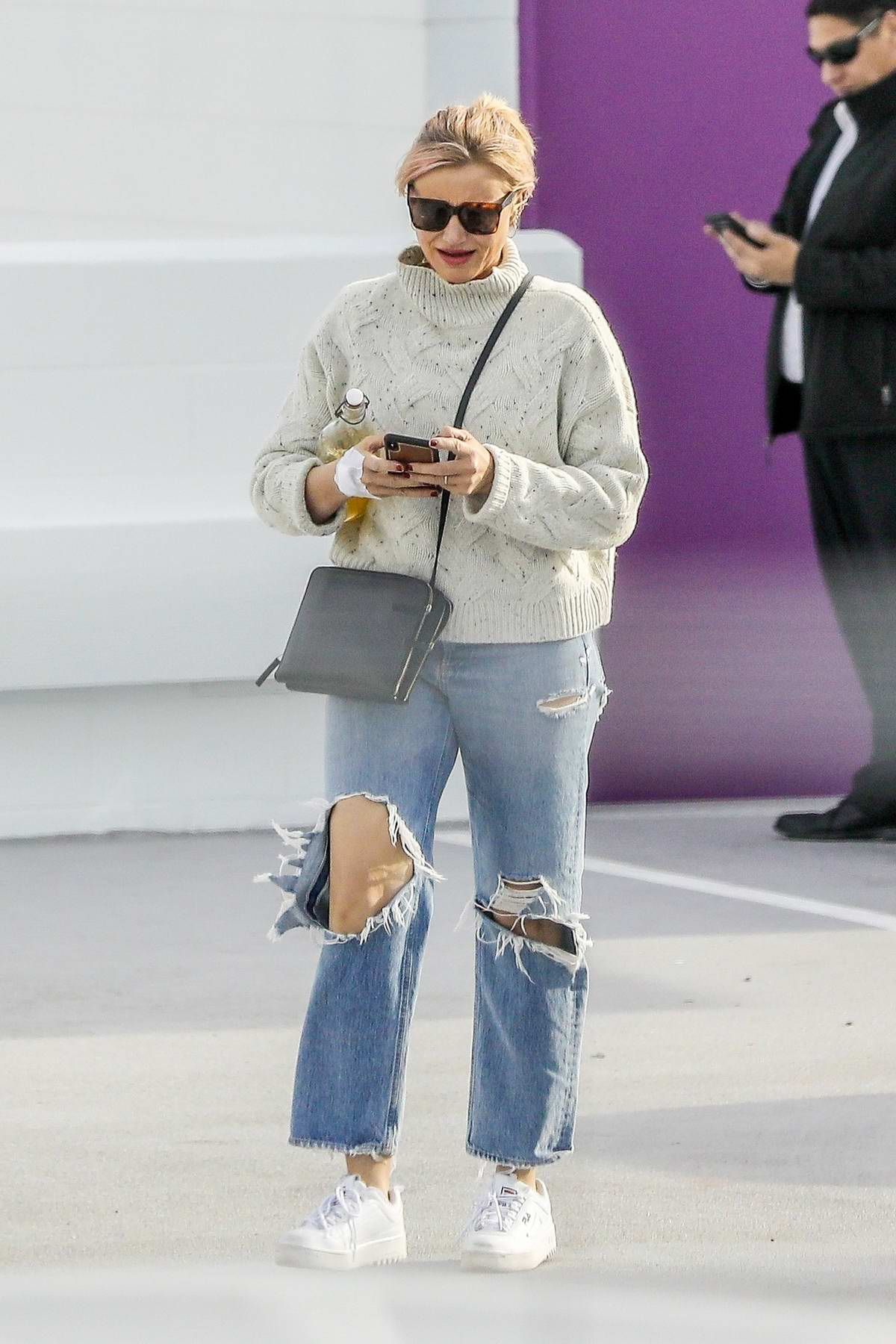 Cameron Diaz spotted as she leaves after a medical check-up in Santa Monica, California