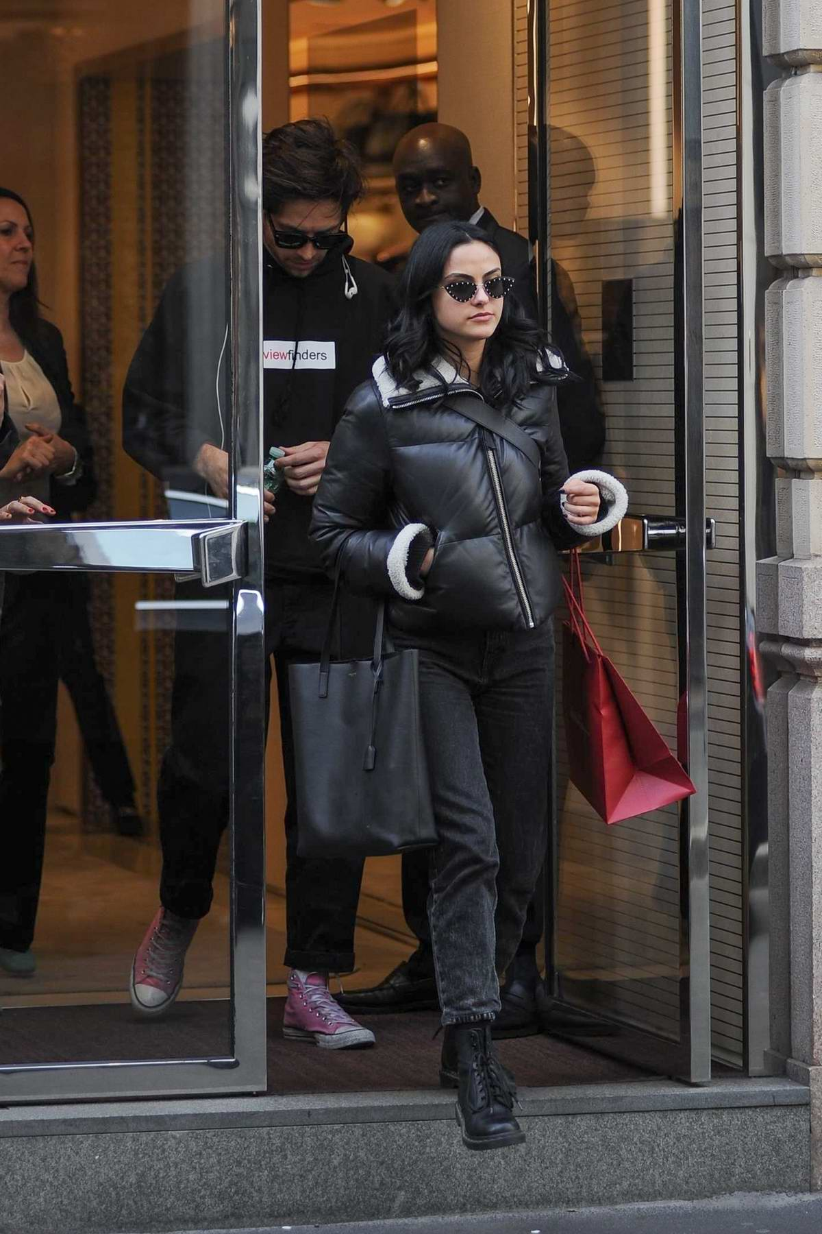 Camila Mendes spotted leaving Salvatore Ferragamo boutique with her new boyfriend in Milan, Italy