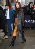 Camila Morrone attends the Coach Fashion Show Fall 2020 in New York City