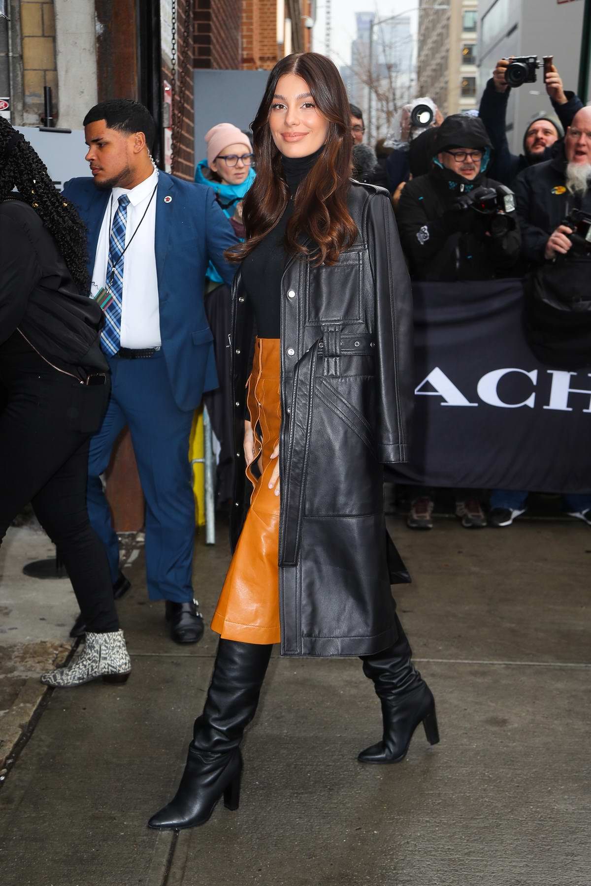Camila Morrone attends the Coach Fashion Show Fall 2020 in New York City