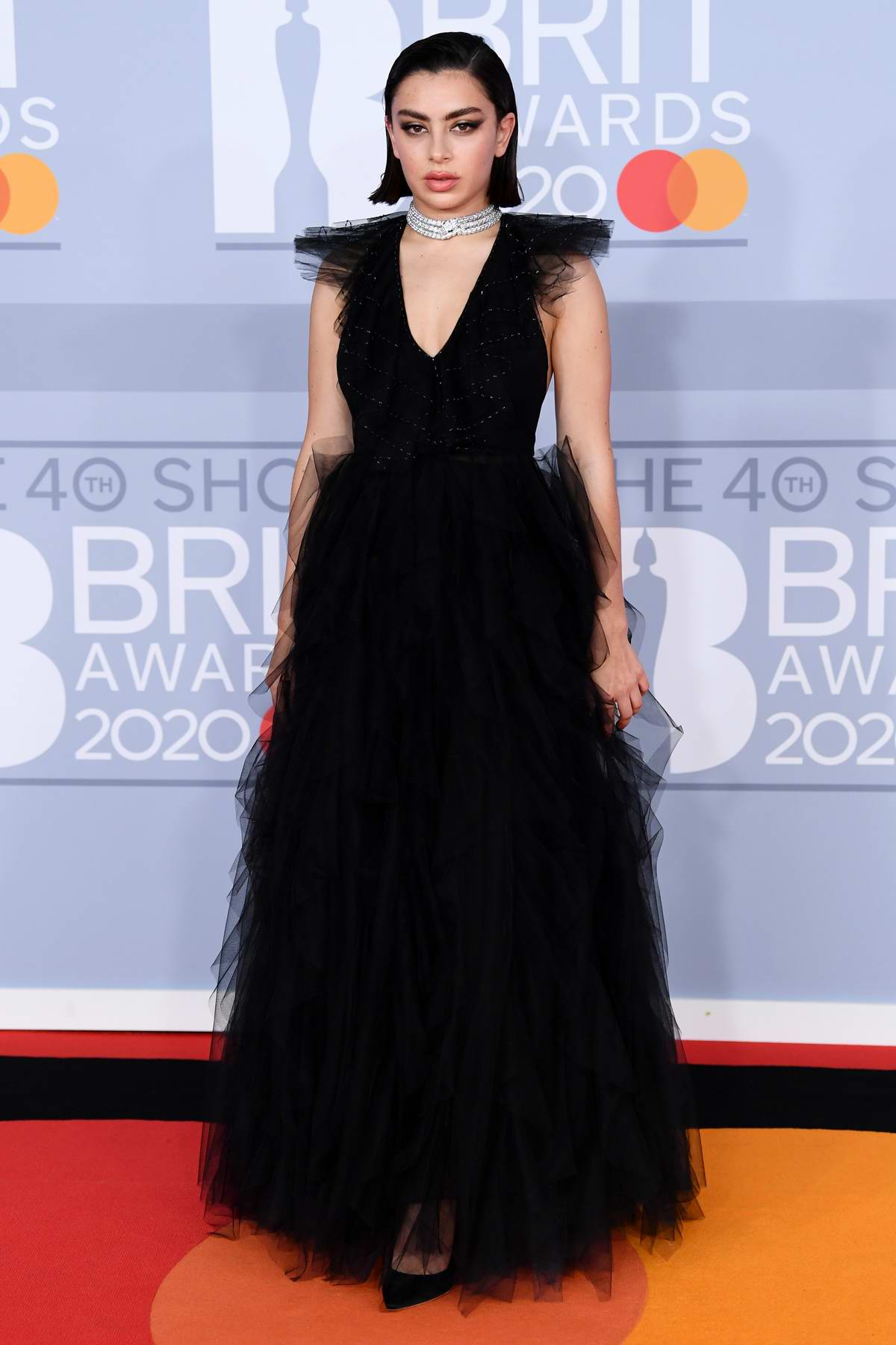Charli XCX attends the BRIT Awards 2020 at The O2 Arena in London, UK