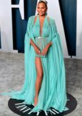 Chrissy Teigen attends the 2020 Vanity Fair Oscar Party at Wallis Annenberg Center for the Performing Arts in Los Angeles