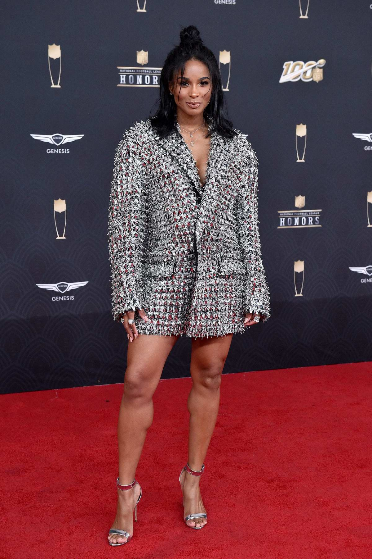Ciara attends the 9th Annual NFL Honors at Adrienne Arsht Center in Miami, Florida