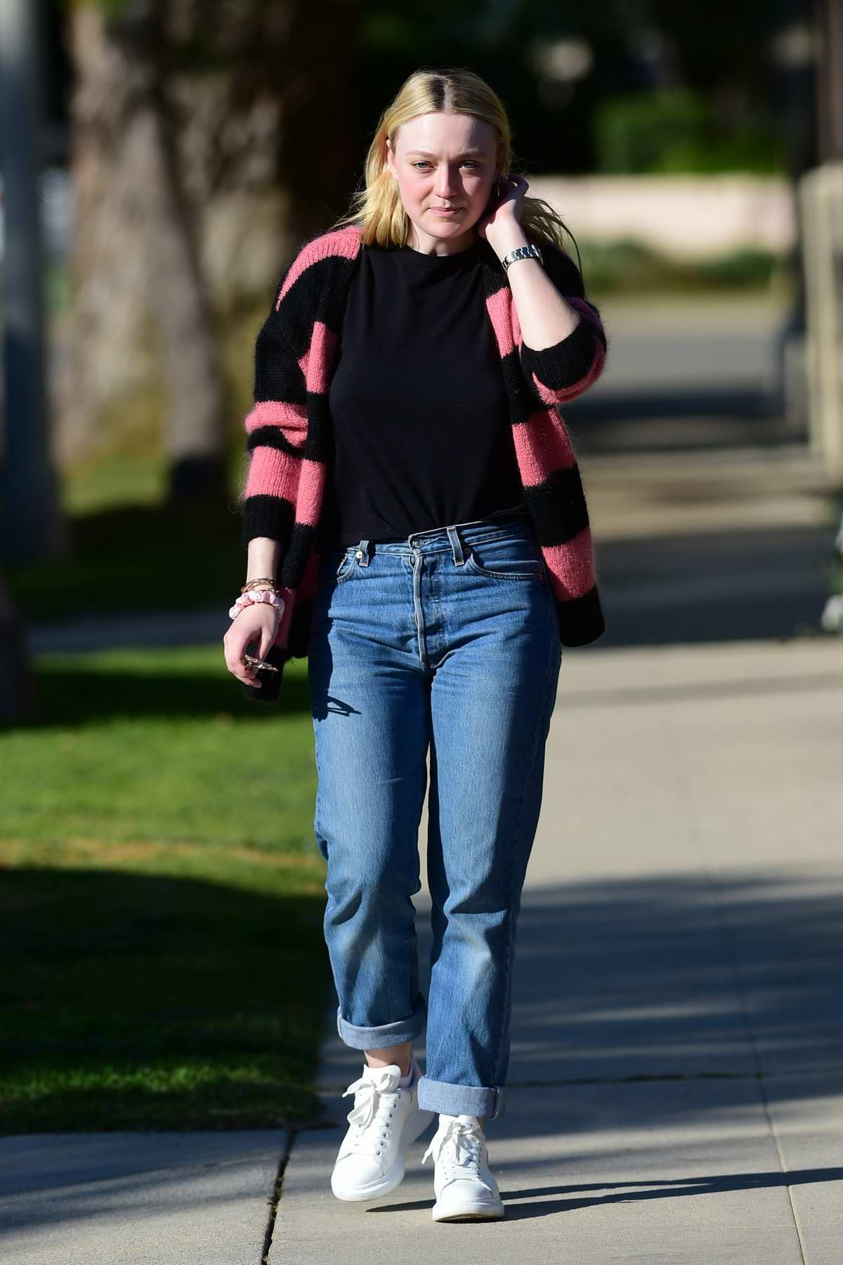 Dakota Fanning keeps it casual as she steps for stroll in Los Angeles