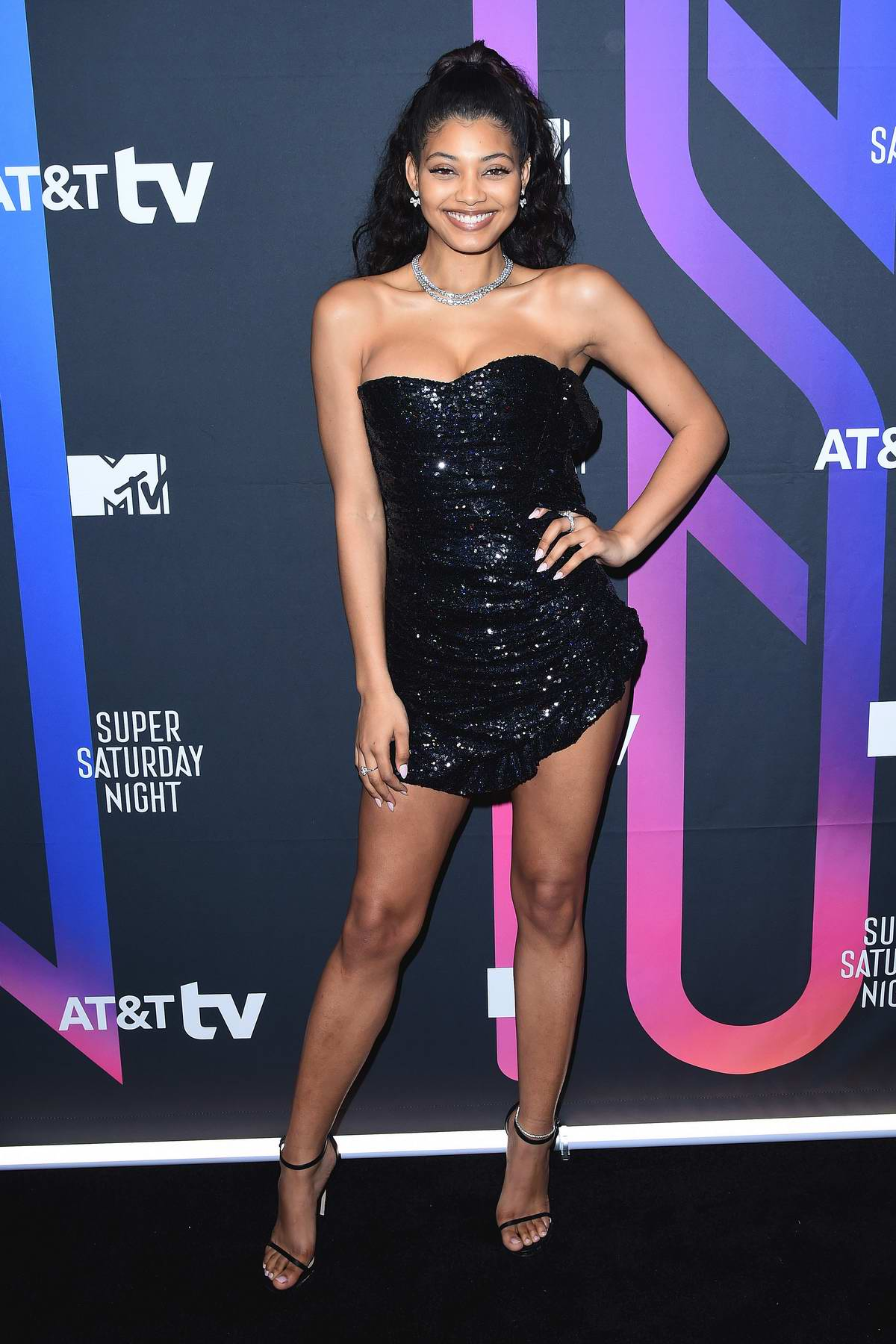 Danielle Herrington attends the AT&T TV Super Saturday Night in Miami, Florida