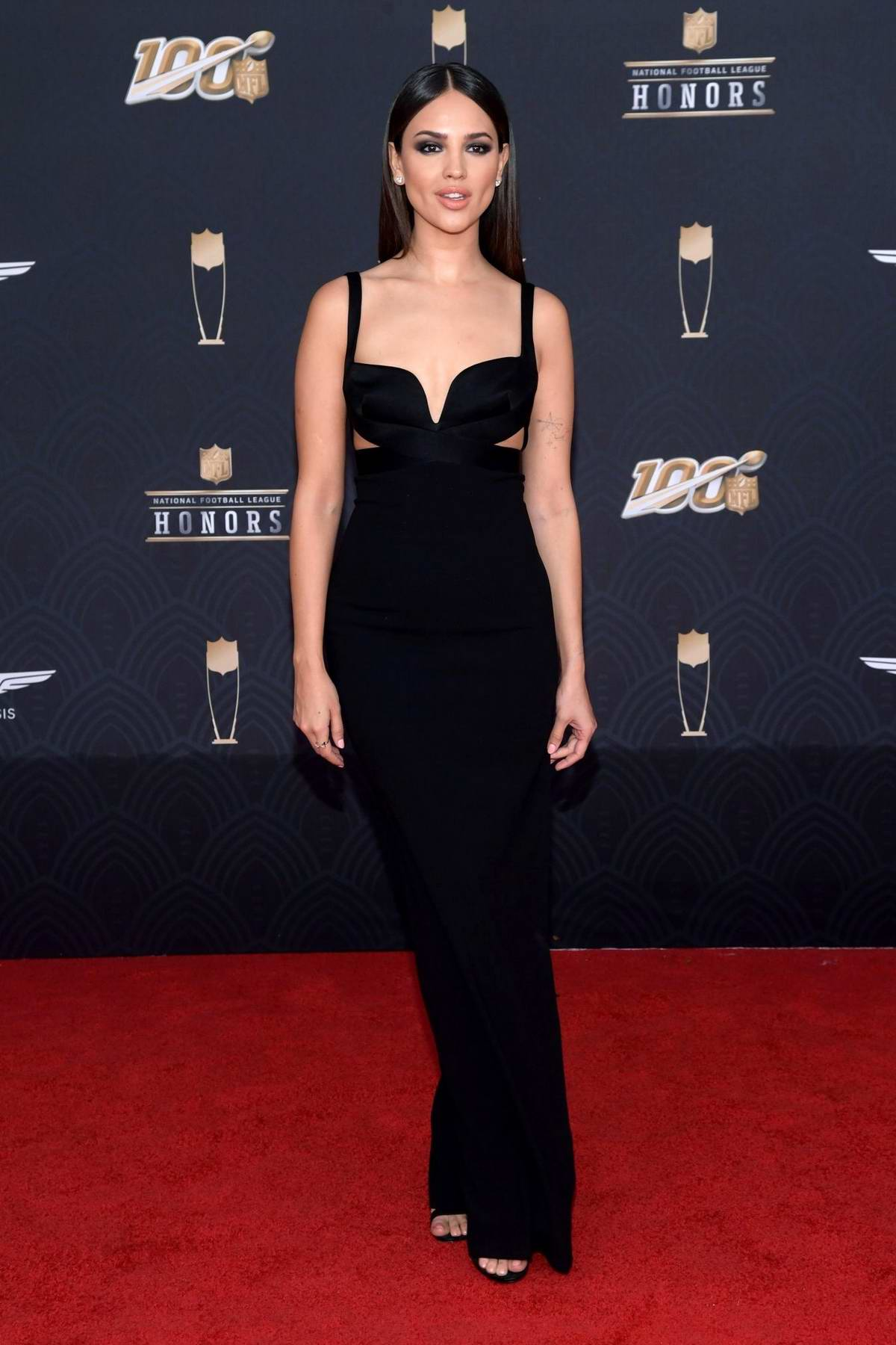 Eiza Gonzalez attends the 9th Annual NFL Honors at Adrienne Arsht Center in Miami, Florida